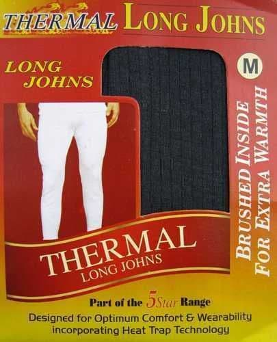 Men's Brushed Thermal Insulated Long Johns Front Fly Winter Underwear Base layer - 154183020294